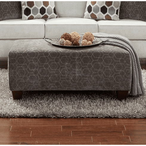 Hexagon Quilt Ottoman<br>Affordable Furniture