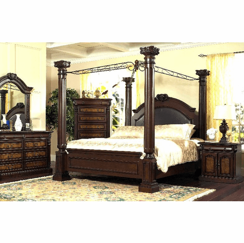 King Canopy Bed Group by Lifestyle