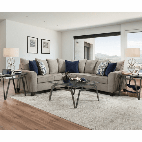 Lane Alamo Grey<br>2 Piece Sectional