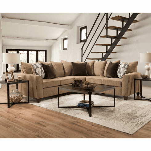 Lane Reed Tan<br>2 Piece Sectional