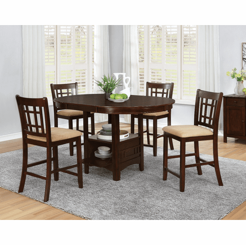 Coaster Light 5 Piece<br>Counter Dining Set