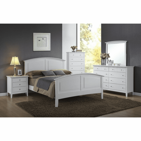Lifestyle 3226 White 7 Piece<br>Full Bedroom
