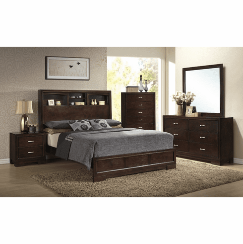 Lifestyle 4233 Bookcase 7 Piece<br>Queen Bedroom