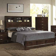 Lifestyle 4233 Bookcase 7 Piece Queen Bedroom