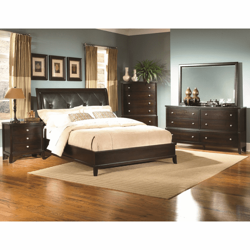 Lifestyle 7185 Cappuccino 7 Piece Queen Bedroom