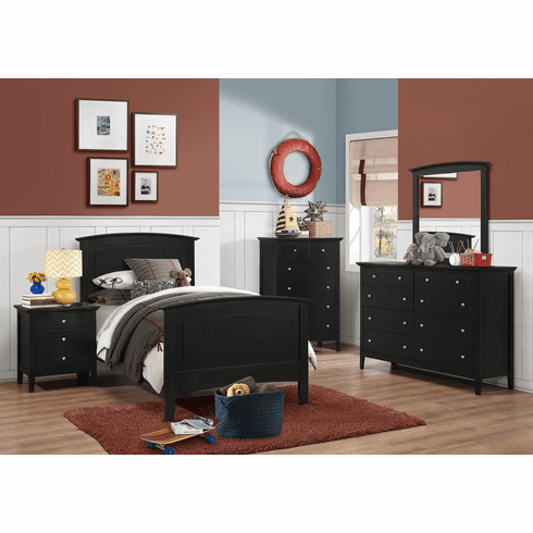 Lifestyle Black Finish<br>Twin Size Bed