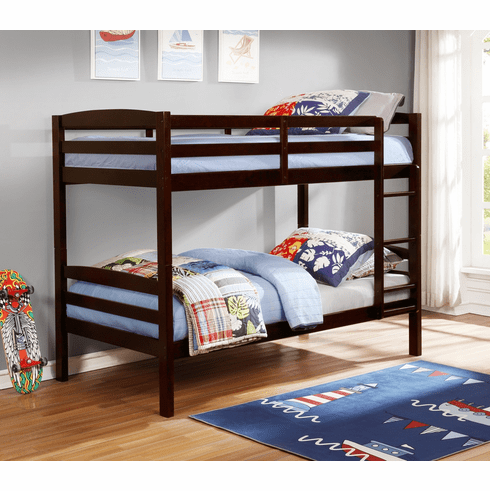 Lifestyle Espresso<br> Twin Twin Bunk Bed Frame
