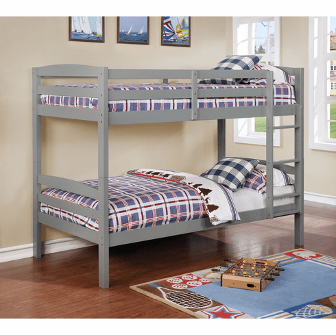 Lifestyle Gray<br>Twin Twin Bunk Bed Frame
