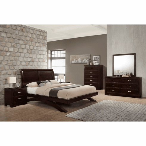 Lifestyle Walnut 7 Piece<br>Queen Bedroom