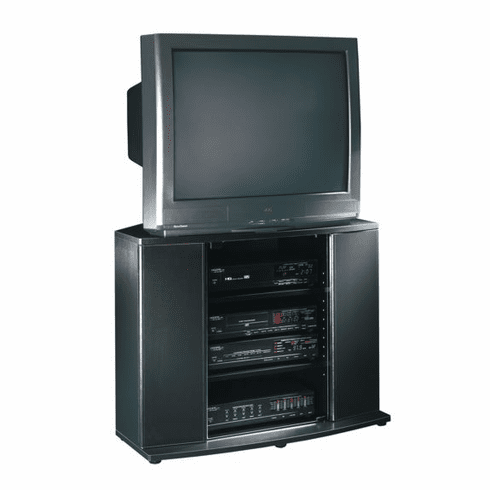 Matte Black Entertainment Stand by Sauder