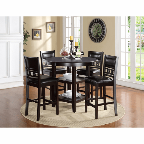 New Classic Ebony 5 Piece Counter Dining Set