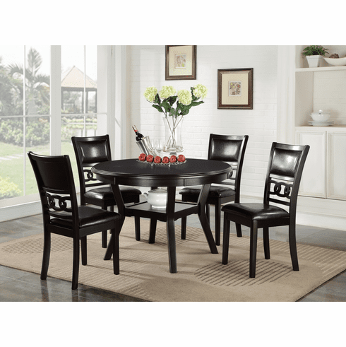 New Classic Gia Ebony<br>5 Piece Dining Set