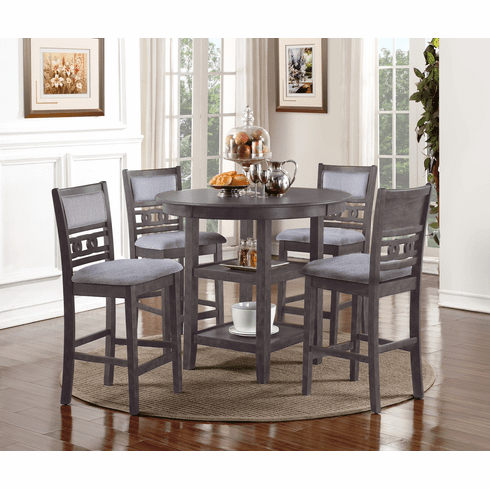 New Classic Grey 5 Piece<br>Counter Dining Set