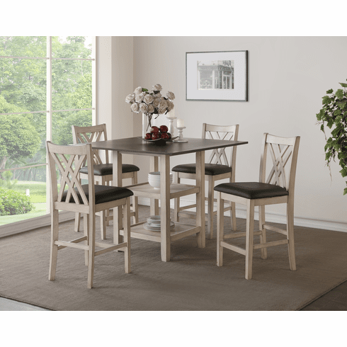 New Classic Paige 5 Piece<br>Counter Dining Set