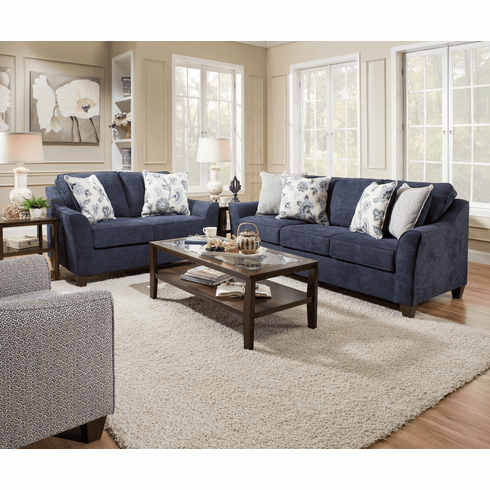 Lane Furniture<br>Prelude Navy Sofa