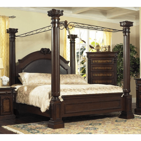 Queen Canopy Bed by Lifestyle