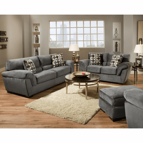 Rhino Charcoal Sofa by Corinthian