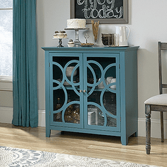 Shoal Creek Elise Blue Display Cabinet by Sauder