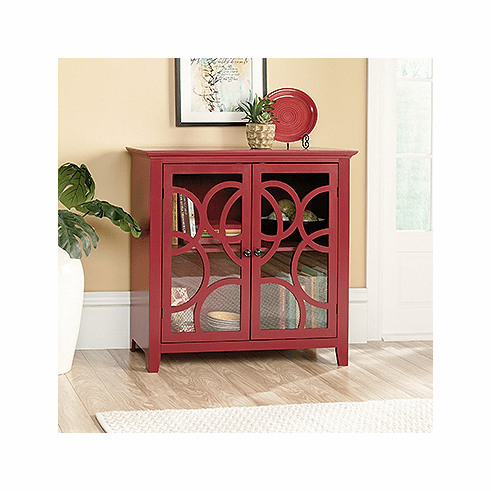 Shoal Creek Elise Red Display Cabinet by Sauder