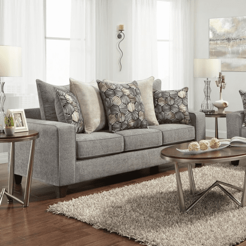 Sparkle Graphite Sofa by Affordable