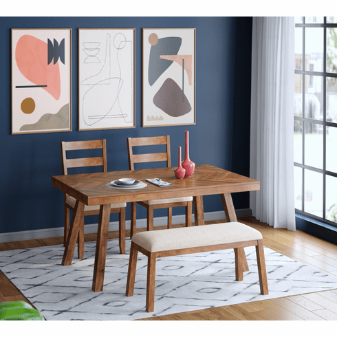 Standard Caswell Brown 4 Piece Dining Set