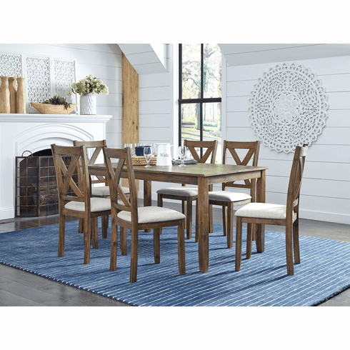 Standard Lankston Dark 7 Piece Dining Set