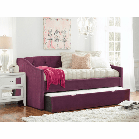 Standard Jurnee Plum Daybed Frame with Trundle