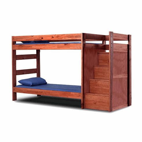 Twin/Twin Reversible Staircase Bunkbed by Pine Crafter