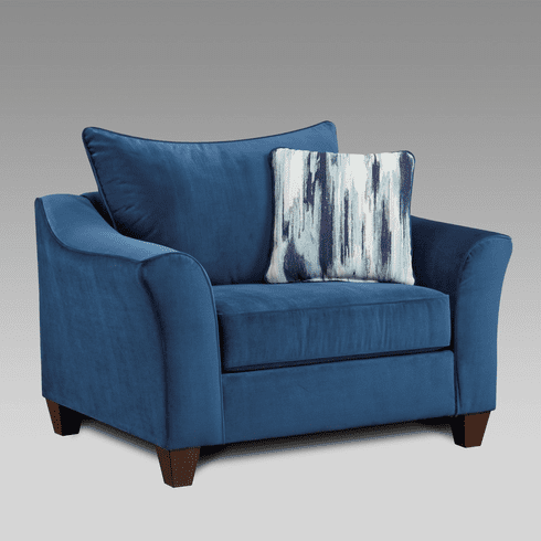Velour Navy Chair<br>Affordable Furniture