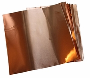 """1.4 Mil/ 12"""" X 12"""" Copper Sheets (pk of 4)"""