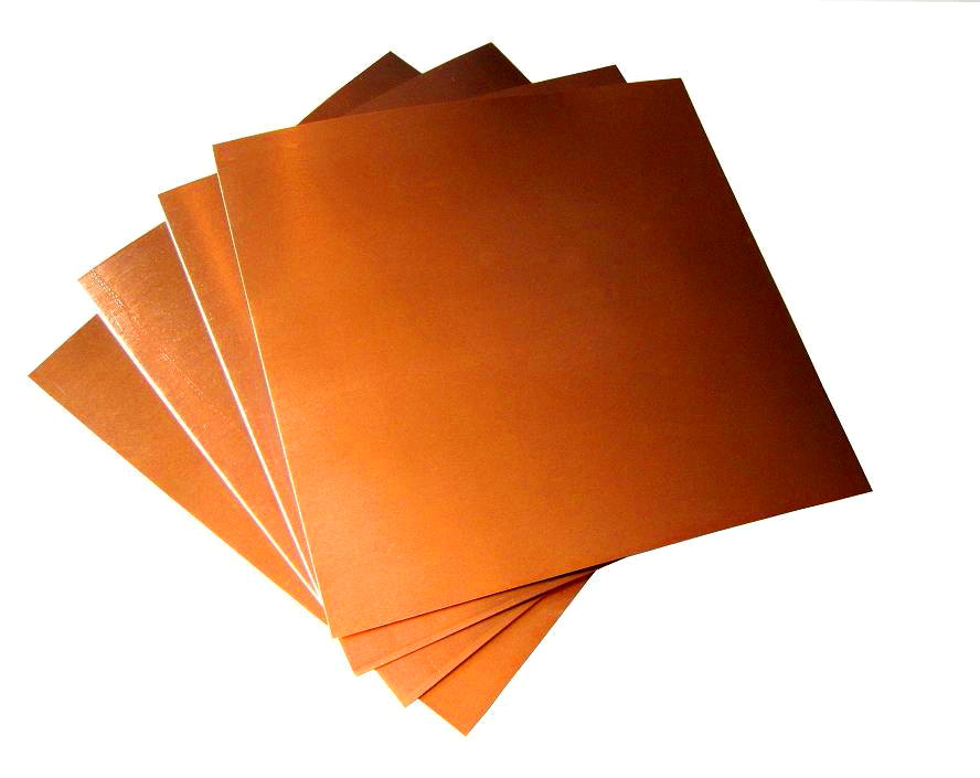 """22 Mil/ 5"""" X 5"""" Copper Sheets (pk of 4)"""