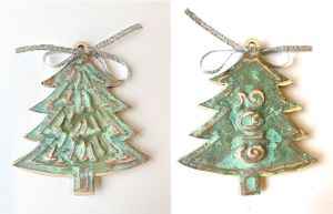 Copper Christmas Ornament Instructions
