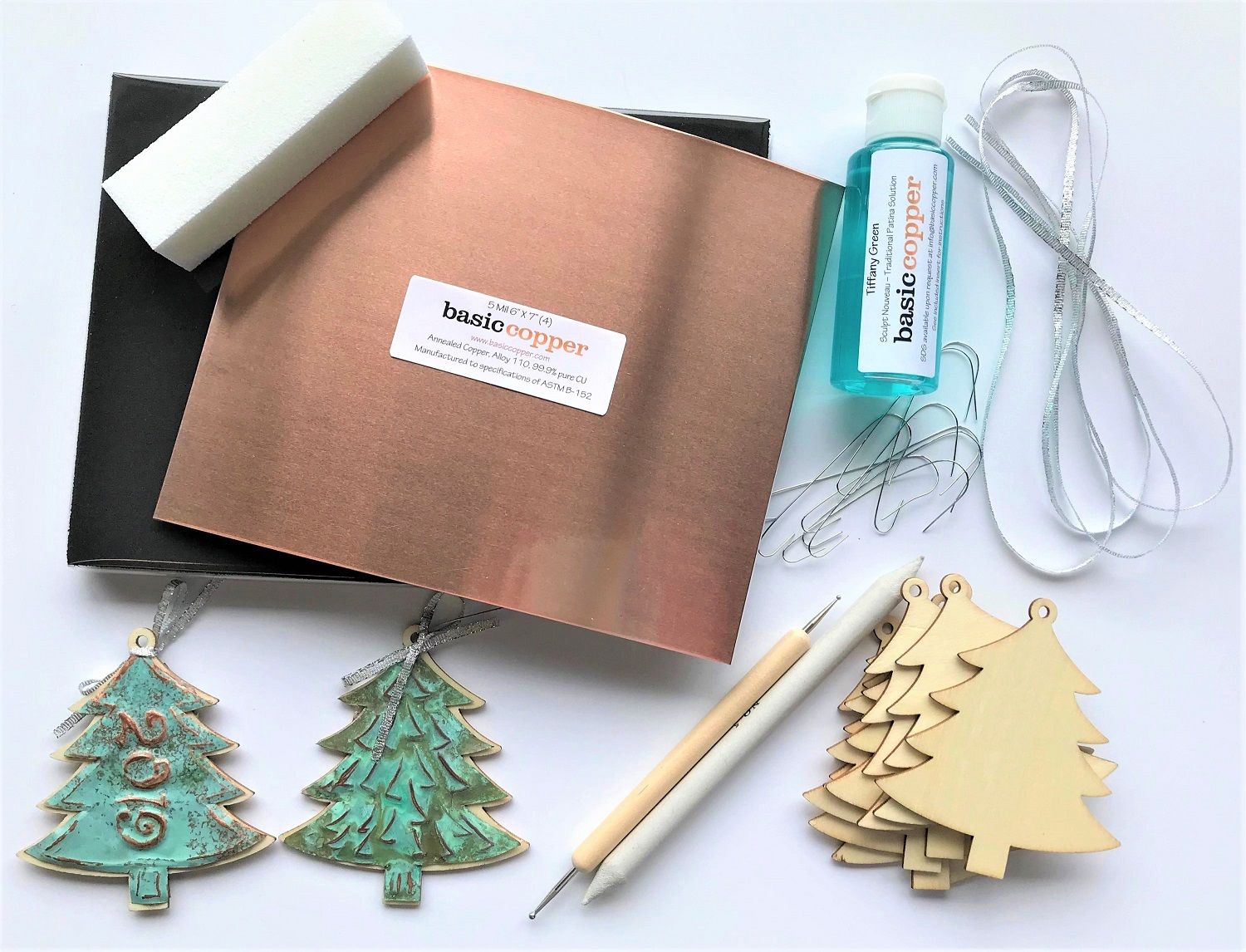 Copper Christmas Tree Ornament Craft Kit