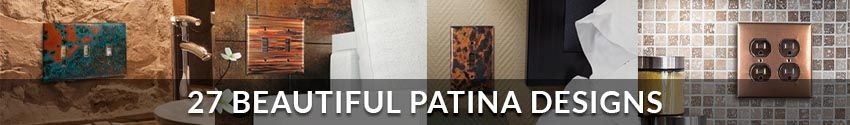 Copper Oulet and Wallplate Covers in 27 Beautiful Patina Designs