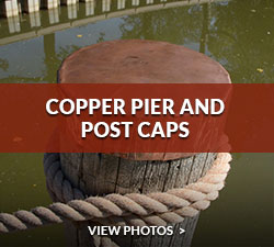 Copper Pier and Post Caps Gallery