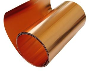 """10 mil/ 6"""" (approximately) X 10' Copper Roll"""