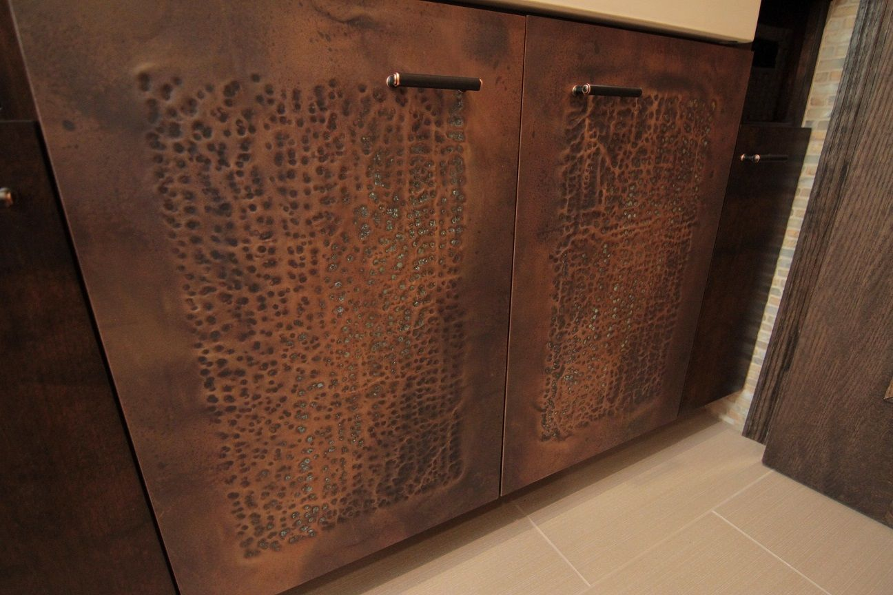 Distressed Copper Cabinet