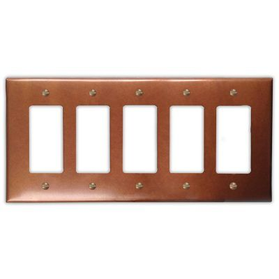 5-Rocker Copper Switch Plate