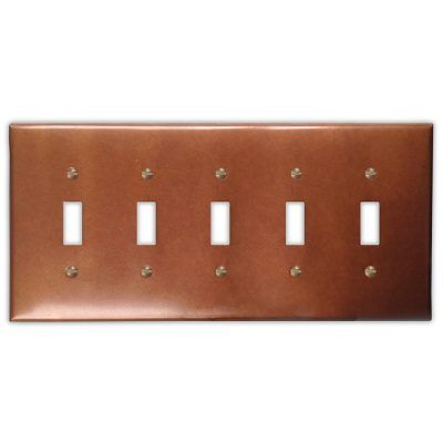 5-Toggle Copper Switch Plate