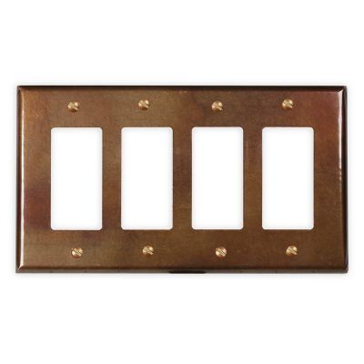 4-Rocker Copper Switch Plate