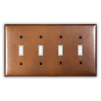 4-Toggle Copper Switch Plate