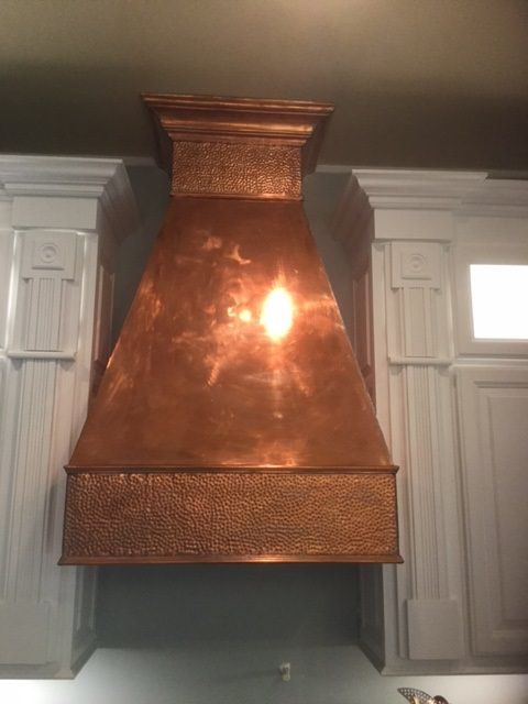"""Hammered Copper Sheet-12"""" x 48"""""""