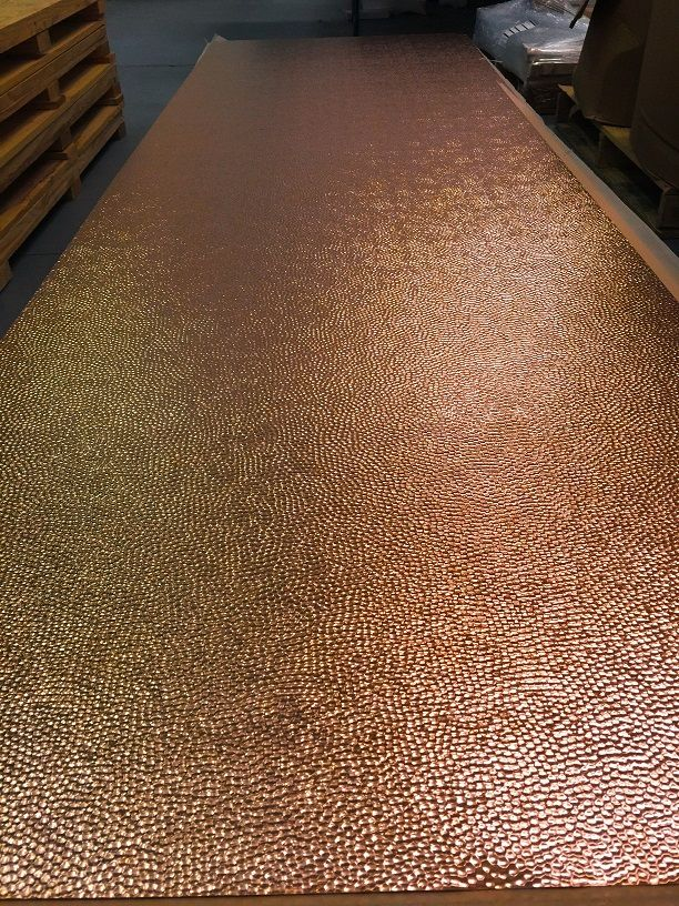 """Hammered Copper Sheet-New York 36"""" x 48"""""""