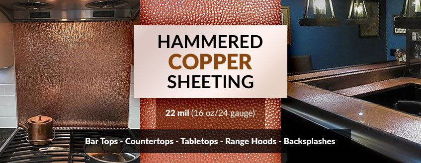 Hammered Copper Sheeting