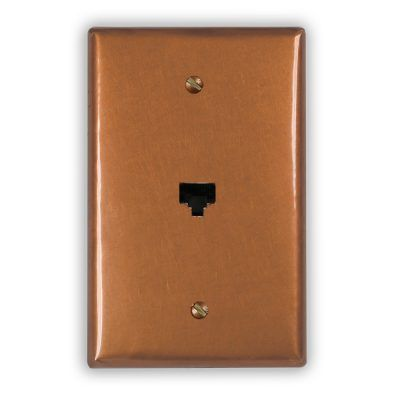 1-Data Jack Copper Outlet Cover