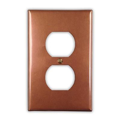 1-Outlet Copper Wallplate Cover