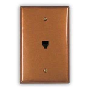 1-Phone Jack Copper Outlet Cover
