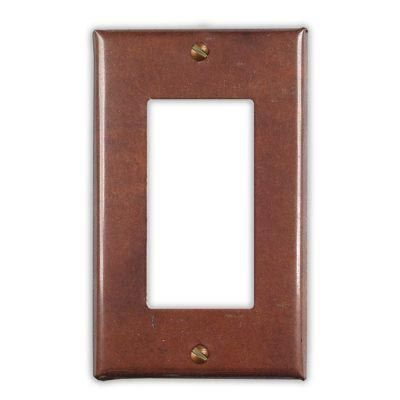 1-Rocker Copper Switch Plate