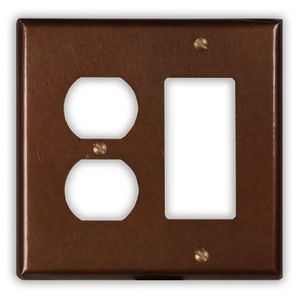 1-Rocker 1-Outlet Copper Switch Plate