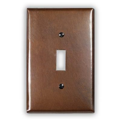 1-Toggle Copper Switch Plate